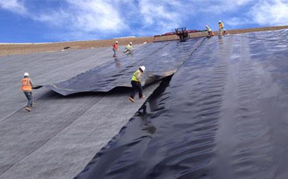防渗土工膜施工案例:运输、铺设、焊接等全方位案例讲解